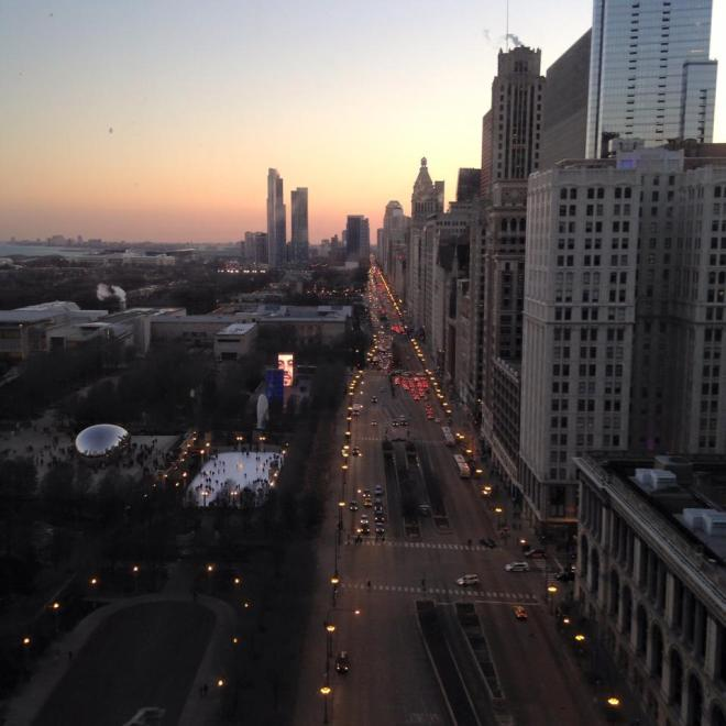View from AirBnB in Chicago, Illinois