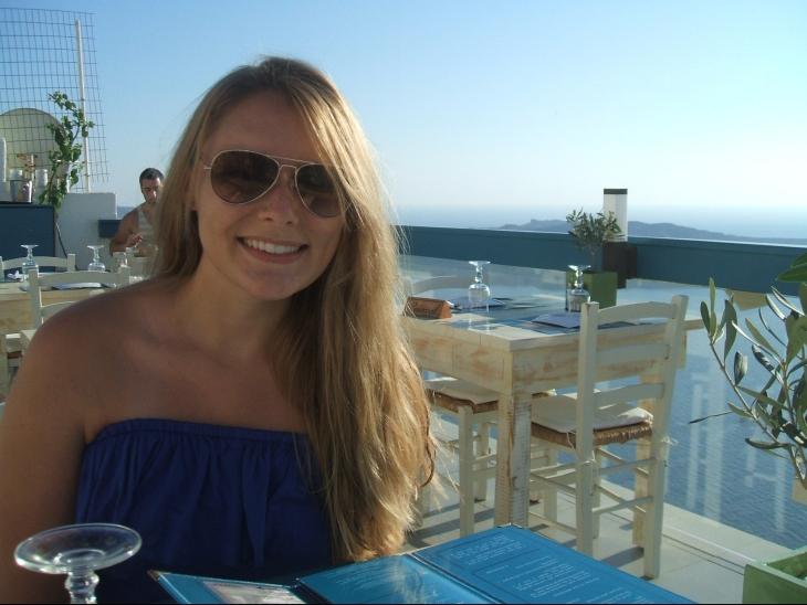 dinner in greece