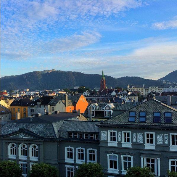 Bergen at sunset