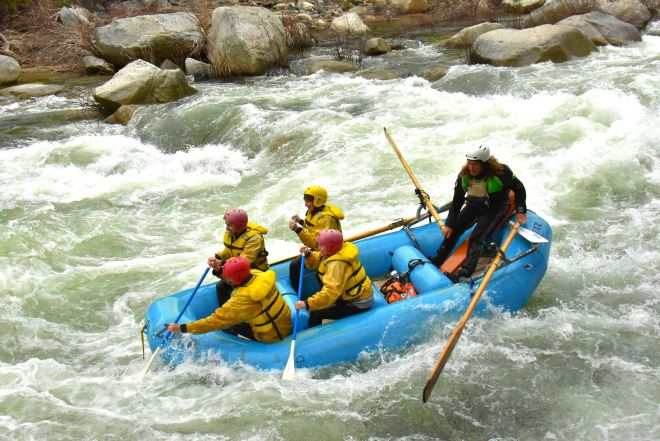 whitewater Rafting Cranberry Hole at Merced River in Yosemite