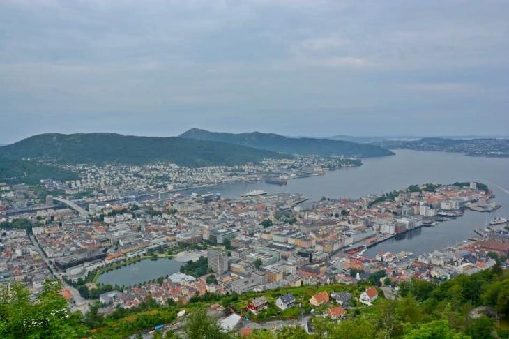 View from Mount Fløyen