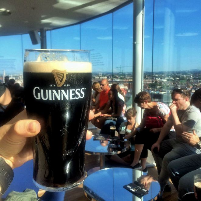 Gravity Bar in Guinness Storehouse in Dublin Ireland
