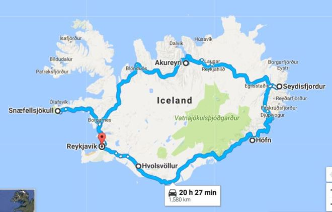 iceland route