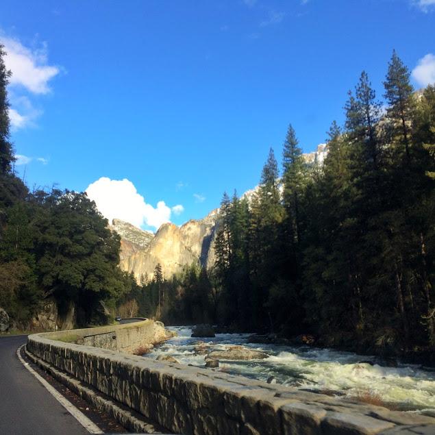 driving through yosemite national park