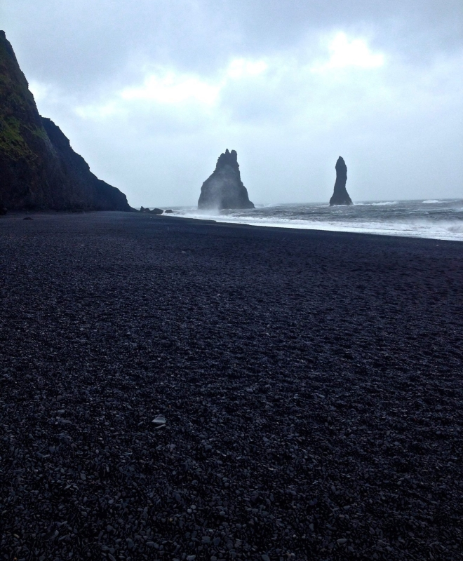 Reynisdrangar Ocean Cliffs, Black Sand Beach