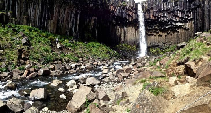 Svartifoss in Vatnajökulspjódgardur National Park