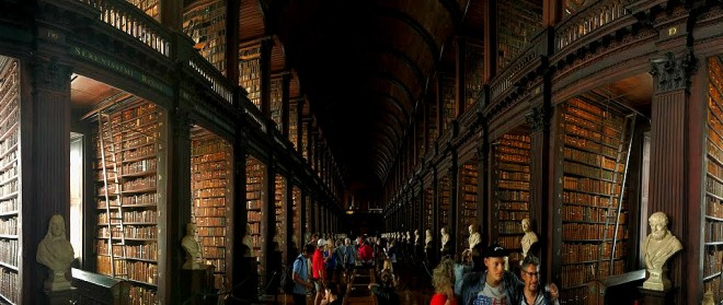 library in Trinity College in Dublin Ireland