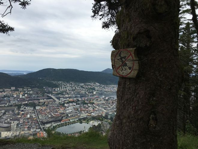 Witch and troll hunting on Mount Fløyen