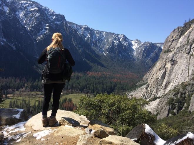 Upper yosemite falls hike