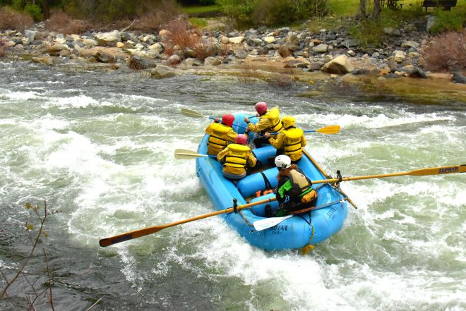 whitewater Rafting at Merced River in Yosemite with Zephyr Rafting