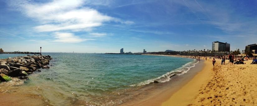 Beaches in Barcelona spain