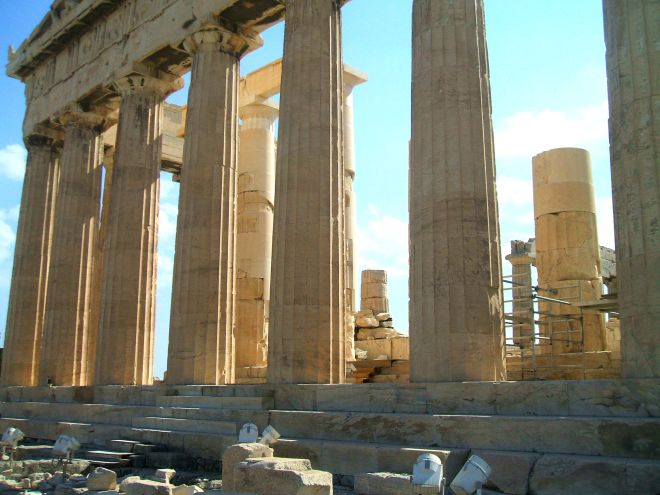 Parthenon acropolis of athens greece