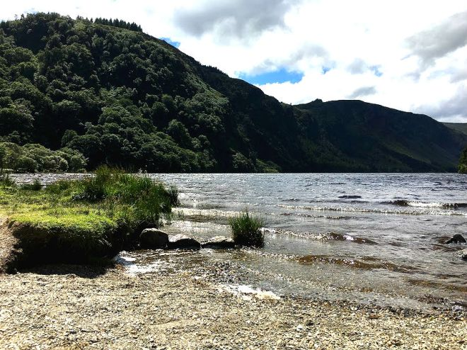 Upper Lake in Glendalough on Wicklow Mountains Tour