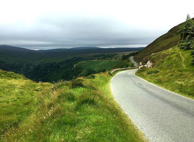 Road through Wicklow Mountains