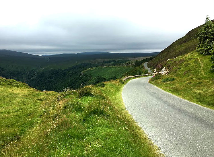 Road through Wicklow Mountains