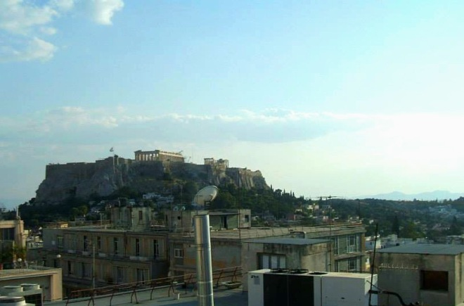 Acropolis of Athens from Hotel Electra greece